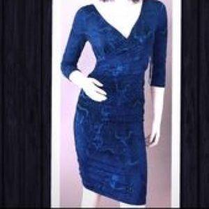 JLo | Blue Snakeskin Dress | Size XS